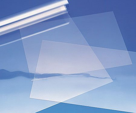 Clear plastic window film